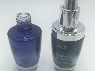 1oz 30ml Gradient black serum glass bottle