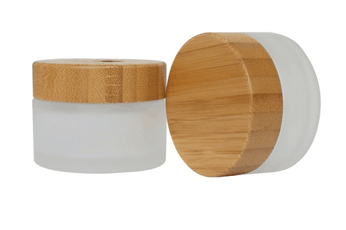 30ml frosted glass bottle with bamboo lid