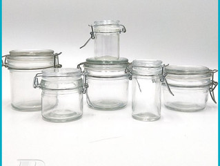200ml Clip top glass canister