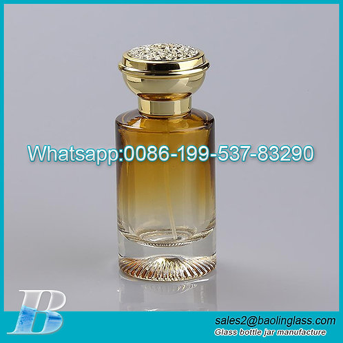 100ml spray glass luxury perfume bottle with cap