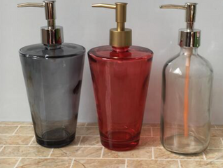 16oz hand washing glass liquid soap dispenser bottle with pump cap