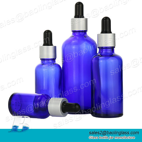 10ml 15ml 20ml 30ml 50ml 100ml Empty cosmetic packaging black frosted glass drop