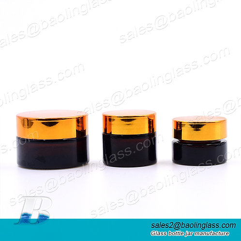 Customized empty pharmacy jars herb flower wax eye face cream package leakless