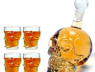 1000ML Skull Head Vodka Whiskey Shot Glass Bottle Drinking Home Bar Decanter