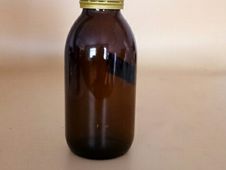 125ml Amber Glass Syrup Bottle