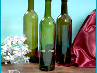 750ml green red wine glass bottle