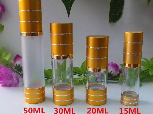 15ml 20ml 30ml 50ml airless pump lotion bottle
