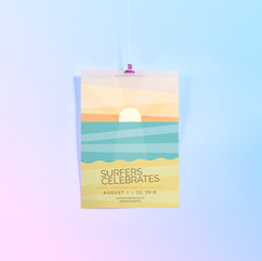 Surfers Celebrates Poster