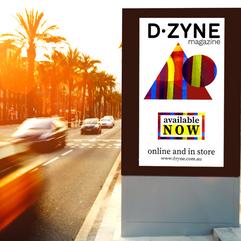 DZyne Magazine Adshel