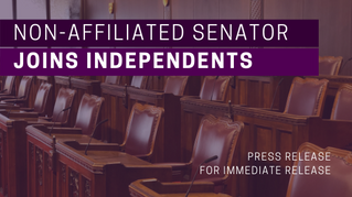 Non-affiliated senator joins independents