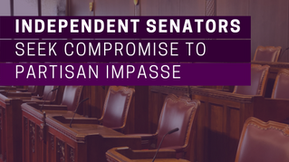Independent senators seek compromise to partisan impasse