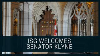 ISG Welcomes Senator Klyne