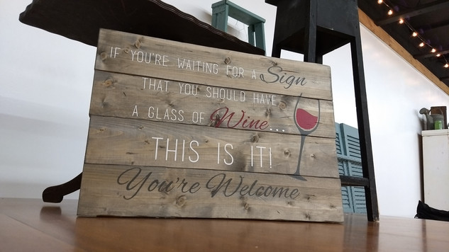 Sign for Wine