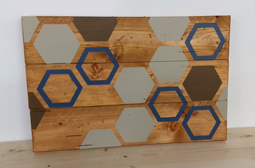 Hexagons - Rectangle Sign