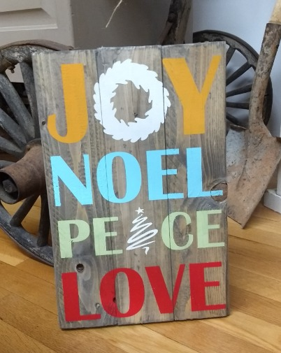 Holiday Words - Joy Noel Peace Love