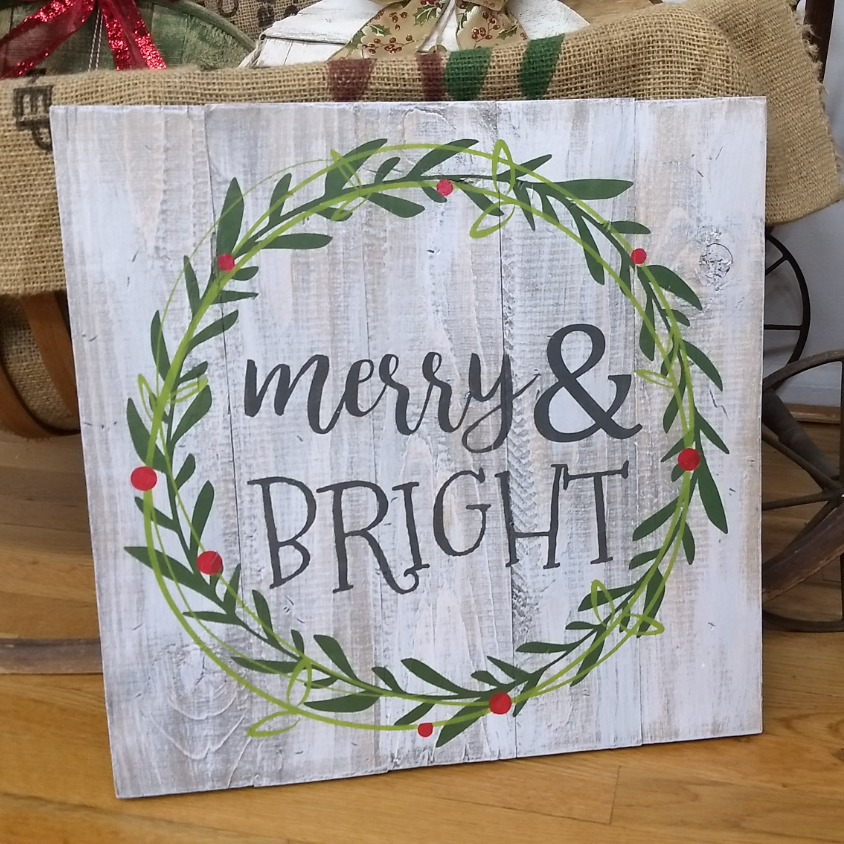 Merry & BRIGHT - double wreath
