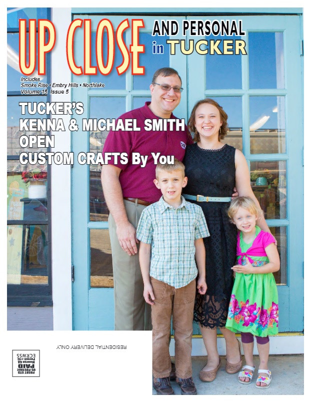 Custom Crafts by You in the Up Close & Personal in Tucker magazine