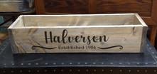Box - last name and established