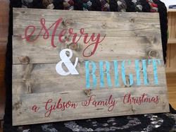 Merry & Bright - Personalized