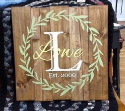 Laurel Wreath - Last Name and Date