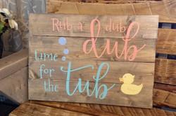 Rub-a-dub-dub Time for the tub