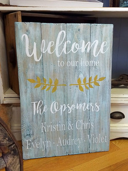 Welcome to our Home - laurel branches