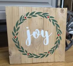 Wreath & Berries - Choose a word Joy - N