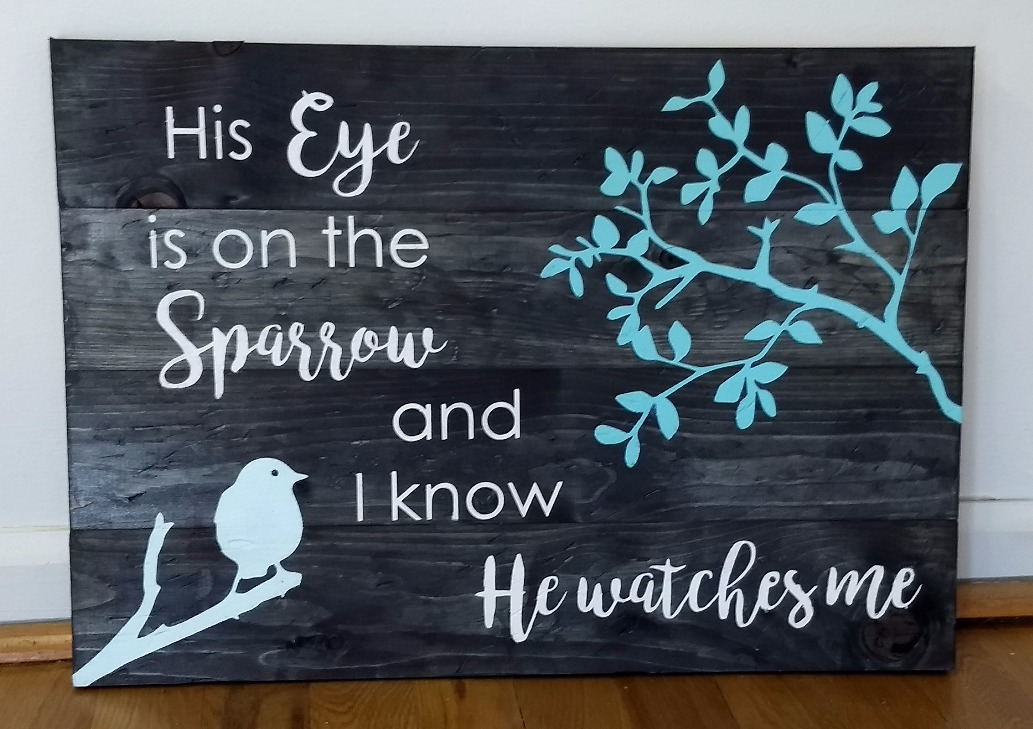 His Eye is on the Sparrow - Horizontal