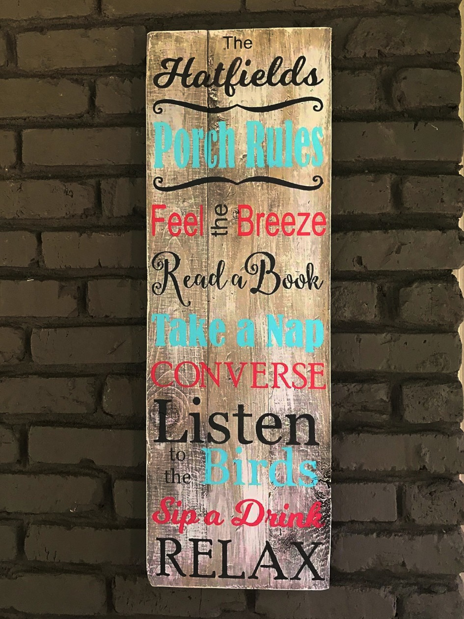 Porch Rules - Personalized