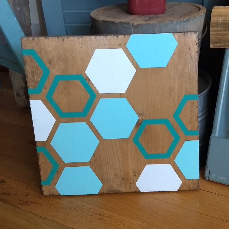 Hexagons - Square Sign