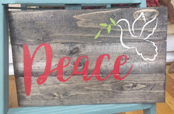 Peace with a dove