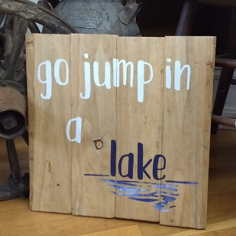 Go Jump in a Lake