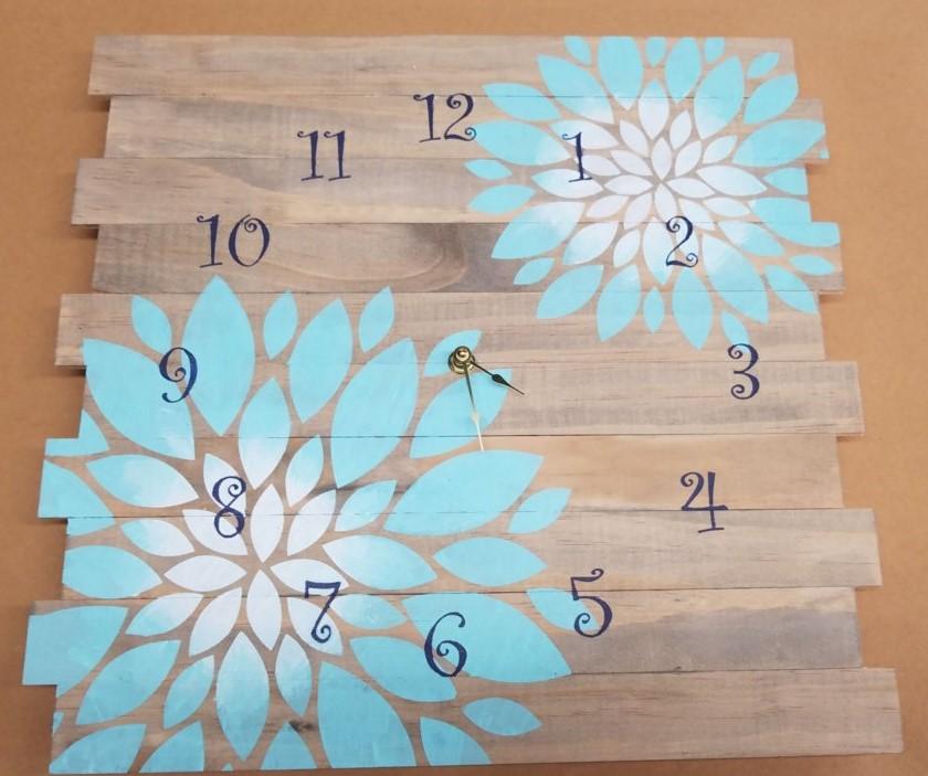Clock - Flowers