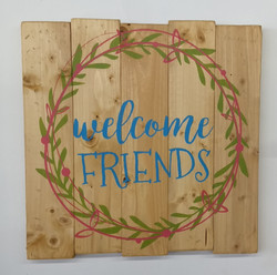 Welcome FRIENDS - double wreath