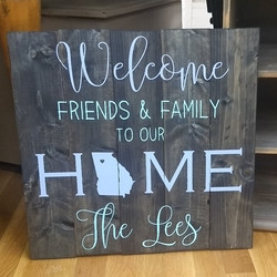 Welcome Friends & Family to our HOME - P