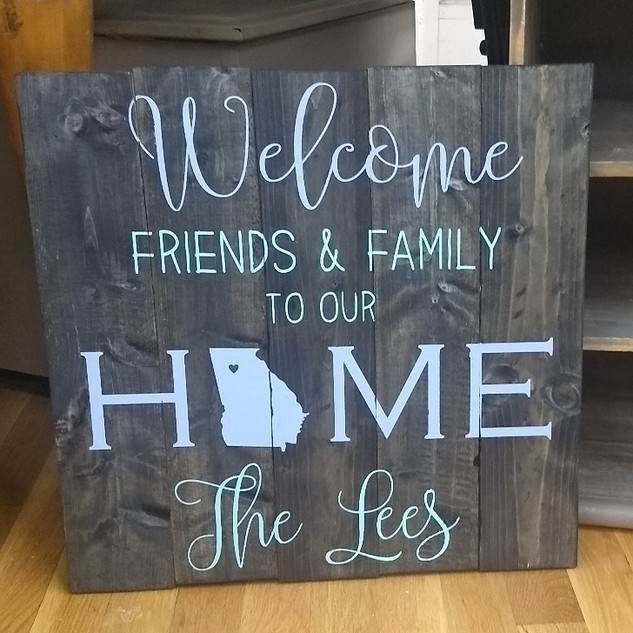 Welcome friends and family to our HOME - personalized