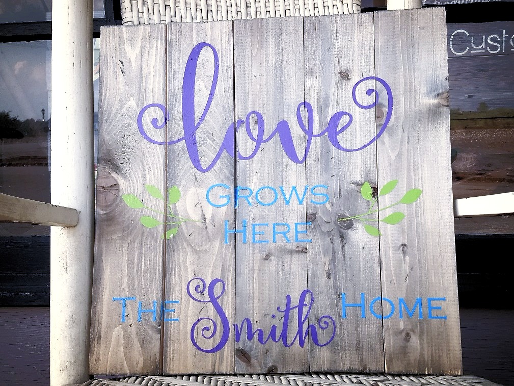 Love Grows Here - personalized