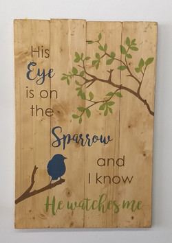 His Eye is on the Sparrow - vertical