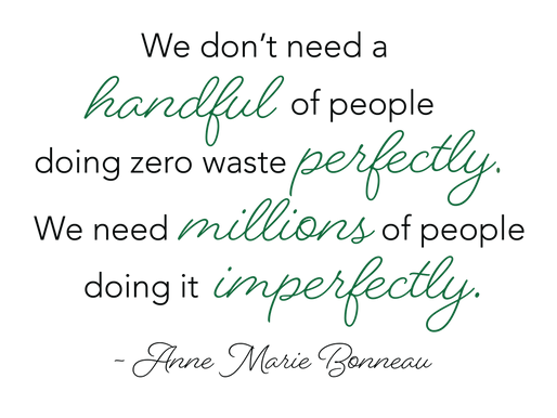 You Don't Have to Be Absolutely Perfect: Zero Waste Rant