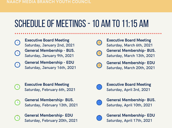 NAACP MEDIA BRANCH YOUTH COUNCIL MEETING