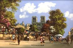 Berte', Henri - Paris street scene $2,250