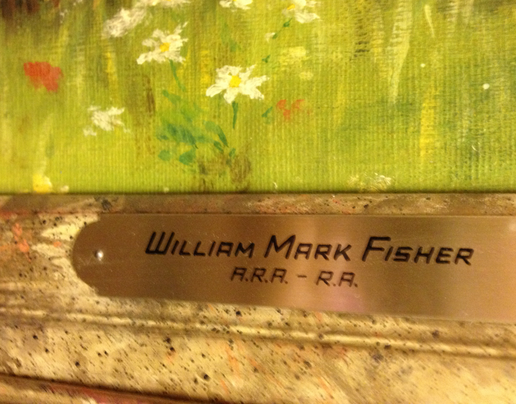 William Mark -plaque on frame