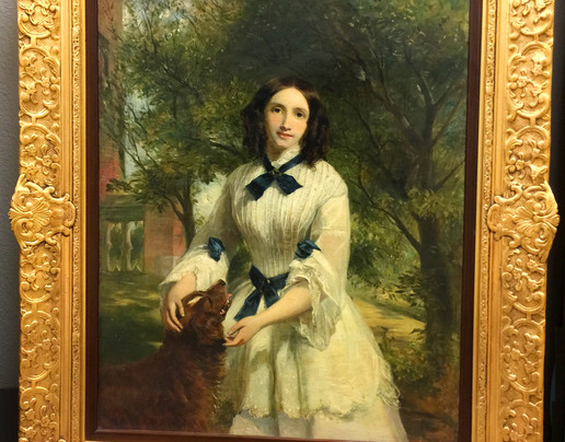 Firth, Portrait of Lady and Dog w/frame