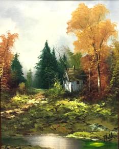Hill, Autumn scene $450