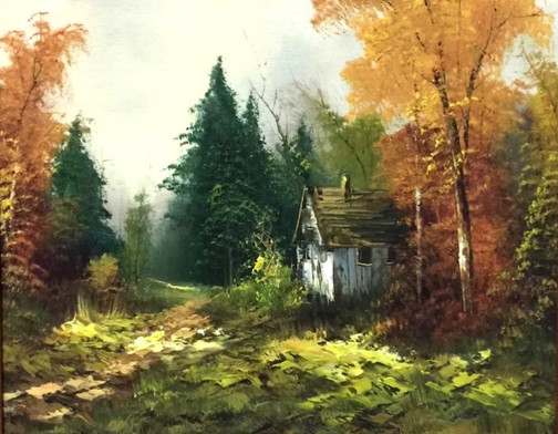 Hill, Autumn scene