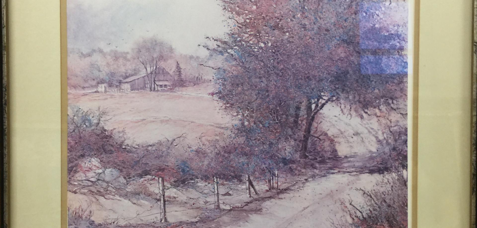 Tom Mallon: Winding Road framed