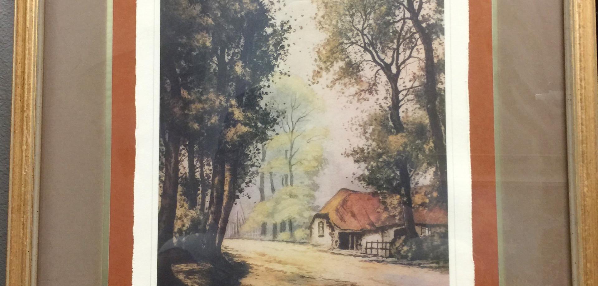 """Cottage in Woods"" - Book Illustration"