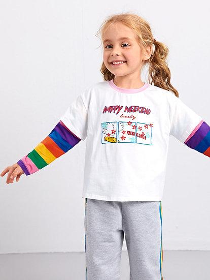 Rainbow Sleeve Top