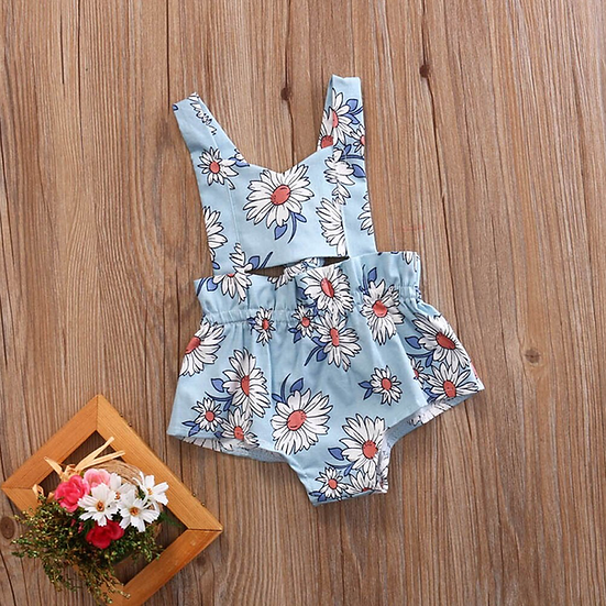 Blue Daisy Summer Romper