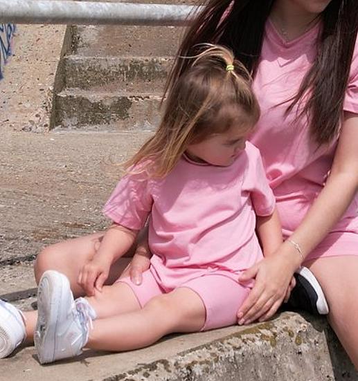 Pink Cycling Shorts Set